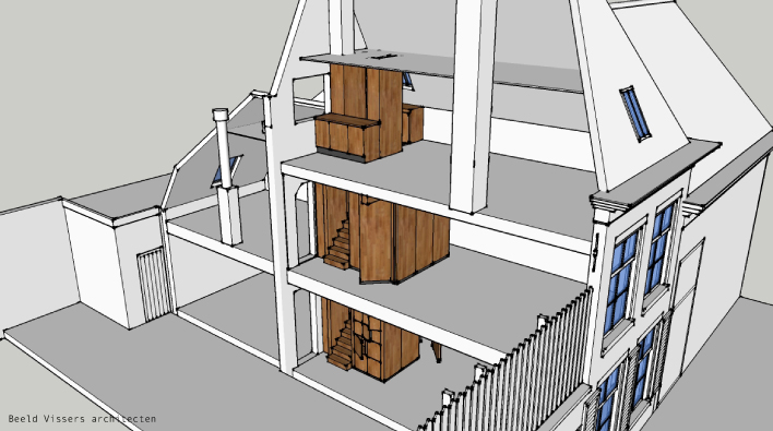 Peuzelaarssteeg 3 door Vissers architecten
