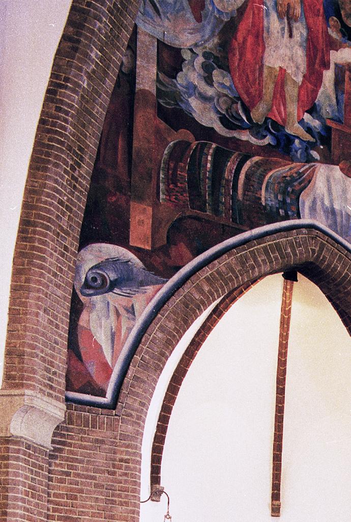 Detail van de Albertuskerk van Vissers architecten