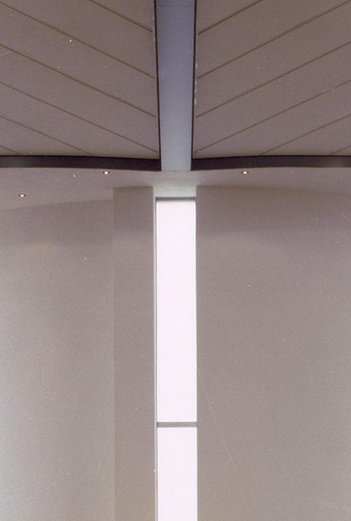 Detail uit het interieur van de kerk Barendrecht door Vissers architecten